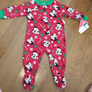 Mickey Mouse Christmas Blanket Sleeper BNWT